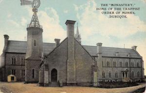 Dubuque Iowa Monastery Trappist Order Of Monks Antique Postcard K54768