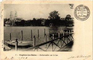 CPA ENGHIEN-les-BAINS Embarcadere sur le Lac (983286)