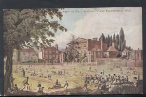 Berkshire Postcard - View of Reading School & Playground, 1816 -  RS14692