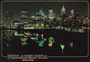 Philadelphia At Night Skyline Philadelphia Pennsylvania