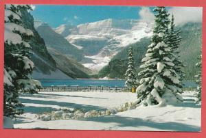 Snowy Winter Blanket at Lake Louise. Canadian Rockies