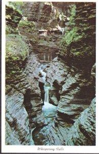 Watkins Glen NY - WHISPERING FALLS at Whirlwind Gorge in Watkins Glen State Park
