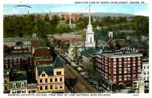 Easton, Pennsylvania - Downtown on North Third Street - in 1930