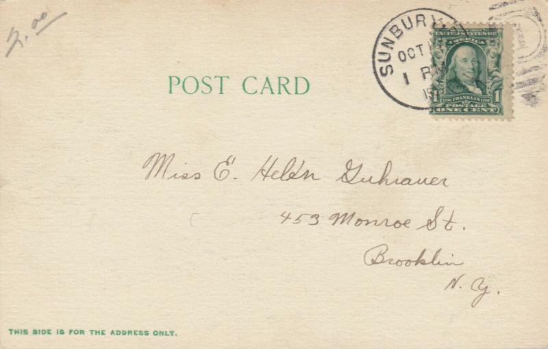 SUNBURY, Pennsylvania, 1901-07; Mary M. Parker Hospital