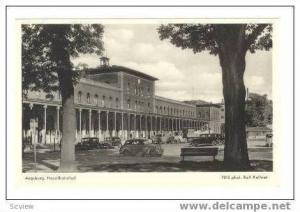 Augsburg, Germany, Hauptbahnhof, 1940s