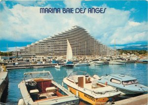 Postcard French Riviera Marina Baie des Anges Port Plaisance Immeuble Commodore