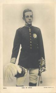 King of Slain Alfons Rotary Photo postcard royalty military uniform