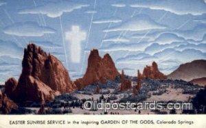 Garden of Gods, Colorado Springs, CO USA April 9th 1950, Religious Unused lig...