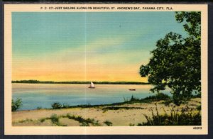 Sailing Along the St Andrew's Bay,Panama City,FL