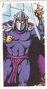 Brooke Bond Tea Trade Card Teenage Mutant Hero Turtles 1990 No 11 Shredder