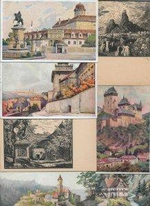 Czech Republic - Poděbrady Karluv tyn And More Lot of 18 Postcards 01.07