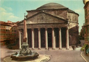 Italy the pantheon postcard street view