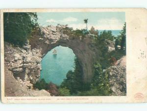 1899 copyright very early view - ARCH ROCK Mackinac Island Michigan MI n6335