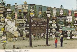 Signposts, Watson Lake, Yukon,  Canada,  PU_1983