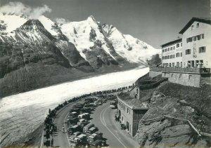 Extra size 15x21cm postcard Schnellgaststatte Franz Josef Haus mit Grossglockner