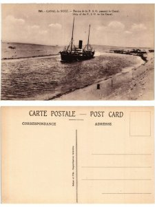 CPA EGYPT Canal de Suez-Navire de la P. & O. passant le Canal (421711)