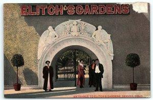 VTG Postcard 1910 Elitch's Gardens Denver Colorado CO Dapper Amusement Park A4