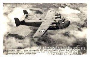Coronado, PB2Y, Military Airplane Postcard Postcards Unused