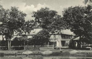 british guiana, GEORGETOWN DEMERARA, Government House from Carmichael Street