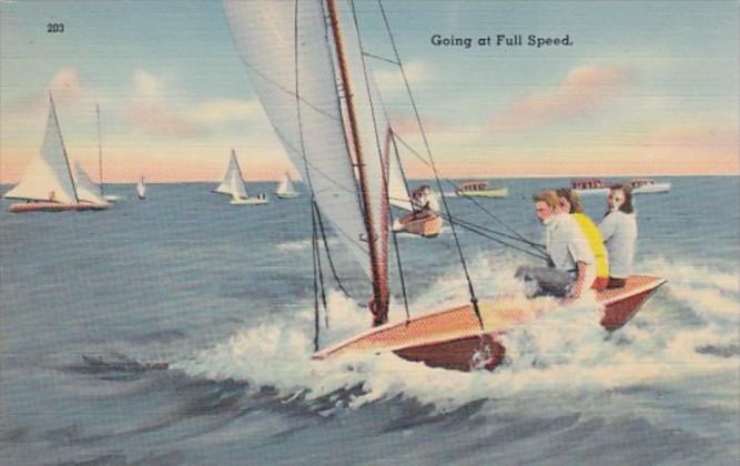 Fllorida Sailing Going At Full Speed