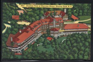 North Carolina colour Airplane View Mayview Manor, Blowing Rock, N.C unused