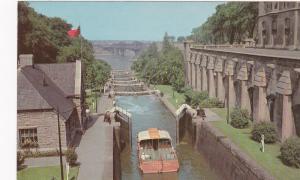 OTTAWA , Ontario , 50-60s ; Rideau Canal Locks and Intrprovincial Bridge
