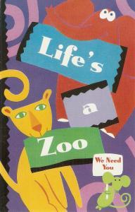 Life's a Zoo Nice American postcard