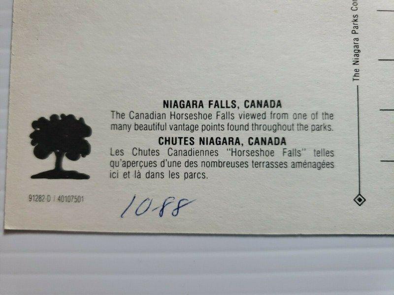Vintage Postcard Niagara Falls Canada 1988 unposted   399