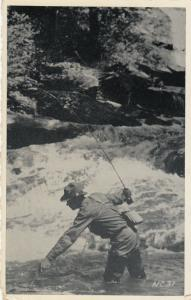 NORTH CAROLINA, PU-1940; Trout Fishing in the Mountains