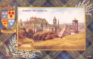 Edinburgh from Calton Hill Scotland, UK Writing on back