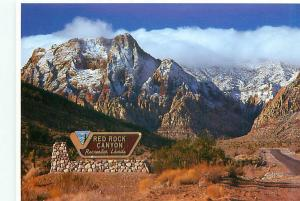 Old Vintage Postcards Red Rock Canyon Sign # 2445A