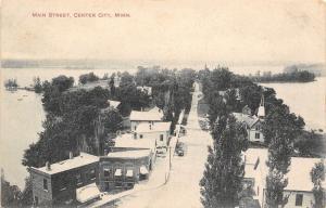 Center City Minnesota~Main Street Birdseye~Drug Store~Ice Cream~Cigars~1912 PC
