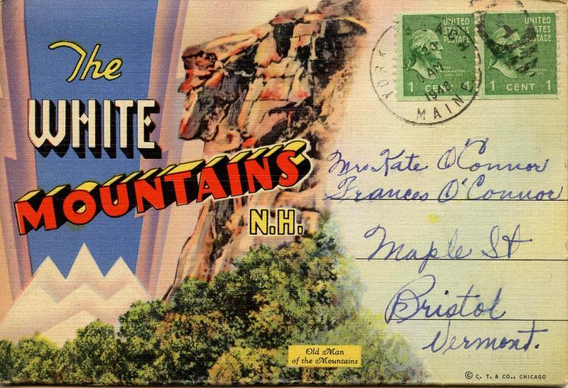 Folder - White Mountains, New Hampshire.  (18 views + covers + narrative)