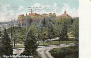 WELLESLEY , Massachusetts, PU-1910; College Hall, Wellesley College
