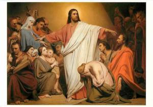 Christus Remunerator Christ Paid by Ary Scheffer Christian Art Postcard