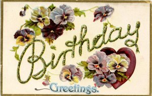 Greeting - Birthday. Embossed.