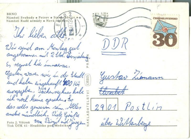 Czech Republic, Brno, Pozdrav z Brna, 1970s used Postcard