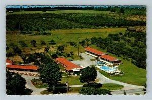 Ontario- Canada, Niagara Falls, Hipwells Motel Aerial View Chrome c1975 Postcard