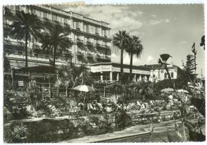 Italy, SANREMO, Royal Hotel, 1953 used real photo Postcard