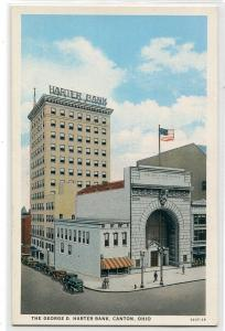 George D Harter Bank Canton Ohio 1930s postcard
