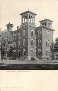 F56/ Wilmington Illinois Postcard c1910 High School Building