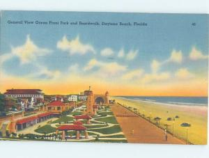 Linen BEACH SCENE Daytona Beach Florida FL G6202