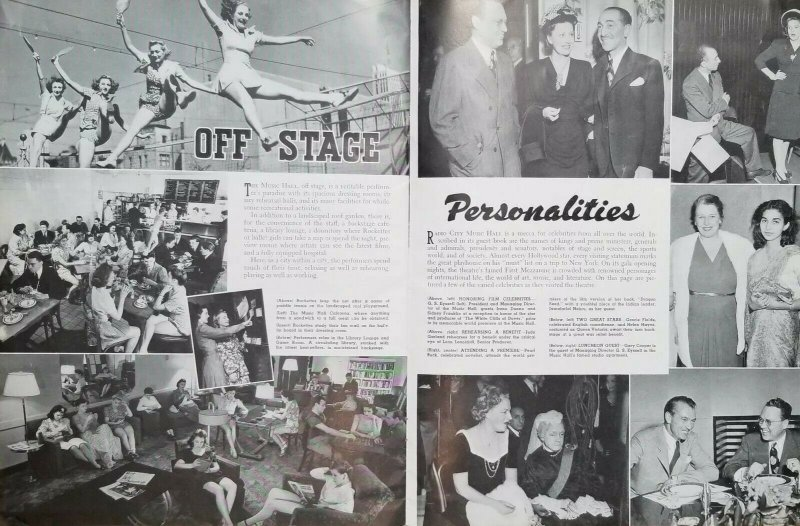 Radio City Music Hall 1940's Rockettes Pictorial Brochure Booklet