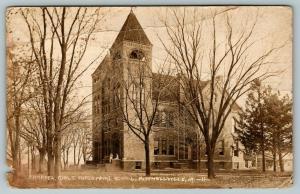 Mitchellville Iowa~Girls Industrial School Chapel~Ladies on Steps~c1910 RPPC