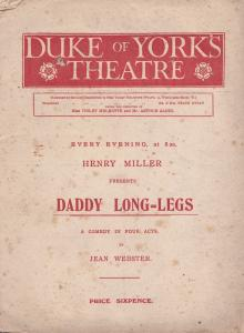 Daddy Long Legs With Renee Kelly Spanish Comedy Film Theatre Programme