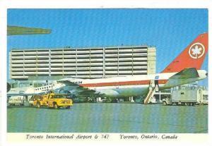 Toronto International Airport & 747, Airplane, Toronto, Ontario, Canada, 1950...