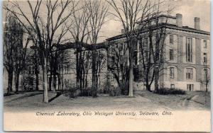 Delaware, Ohio Postcard Chemical Laboratory, Ohio Wesleyan University 1909