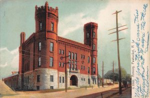 Armory, Pawtucket, Rhode Island, Early Postcard, Used in 1912, Missent Cancel