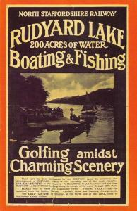 Nostalgia Postcard 1920s North Staffordshire Railway Rudyard Lake Advert NS5