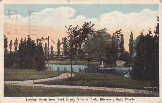 Looking North from Rood Island, Victoria Park, Kitchener, Ontario, Canada, PU...